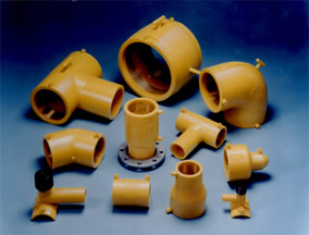 PE pipe ranges and types of fittings