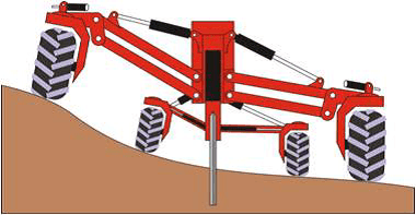 Mole ploughing machine