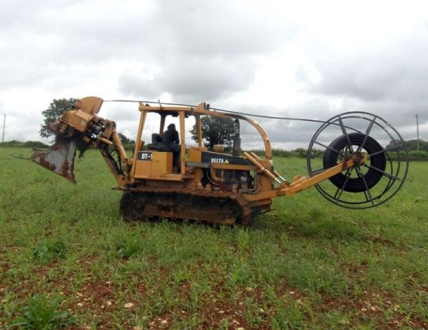 Mole ploughing machine - Image courtesy: P J Hirons Ltd.