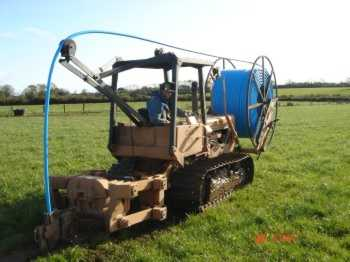 Mole ploughing machine Image courtesy: Terra Services